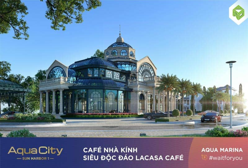 cafe nha kinh aqua city