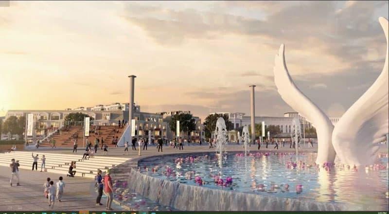 doi canh quang truong aqua marina aqua city